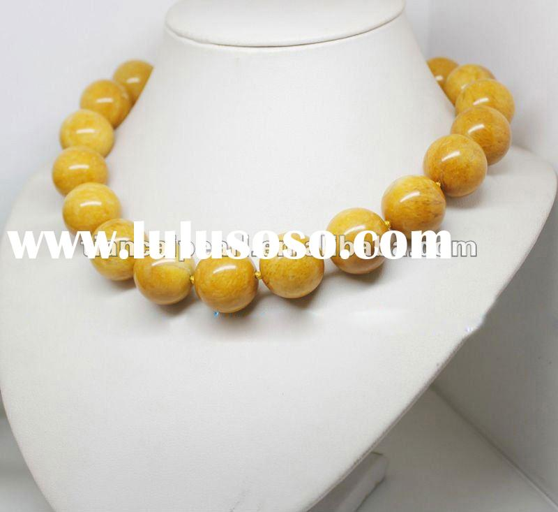 30% OFF! beautiful yellow crystal necklace for free ship