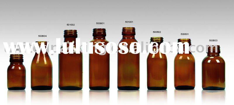 30ml-100ml amber glass bottles for syrup STD PP28mm