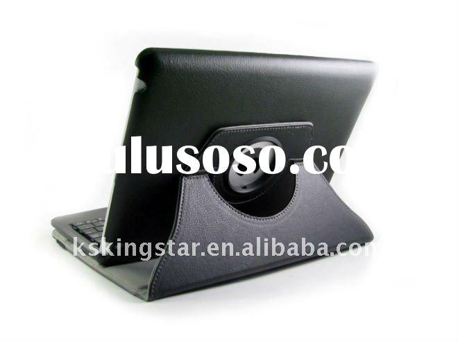360 degree rotating stand leather case for ipad2