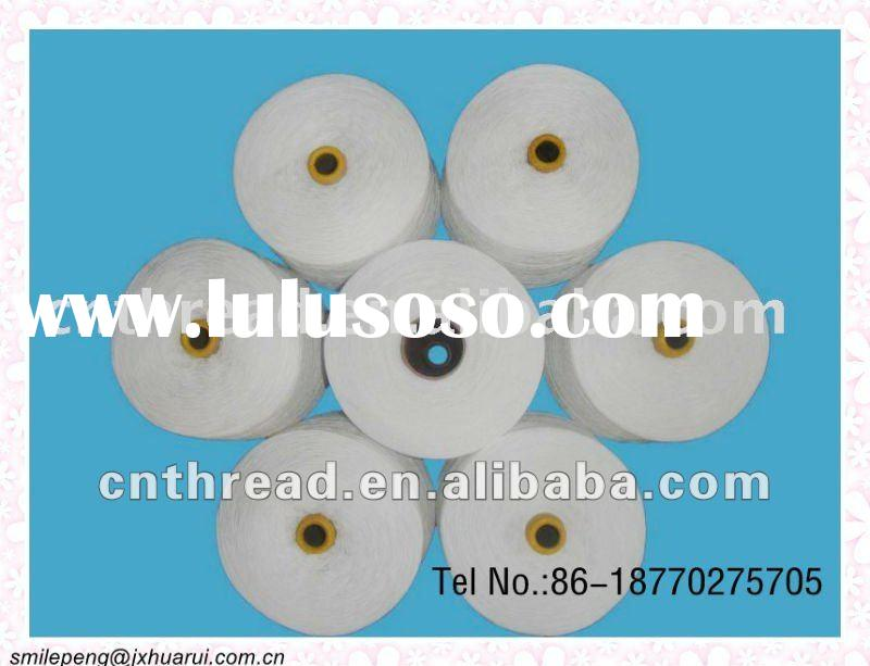 40/2 40/3 100 pct spun polyester yarn sewing thread raw white