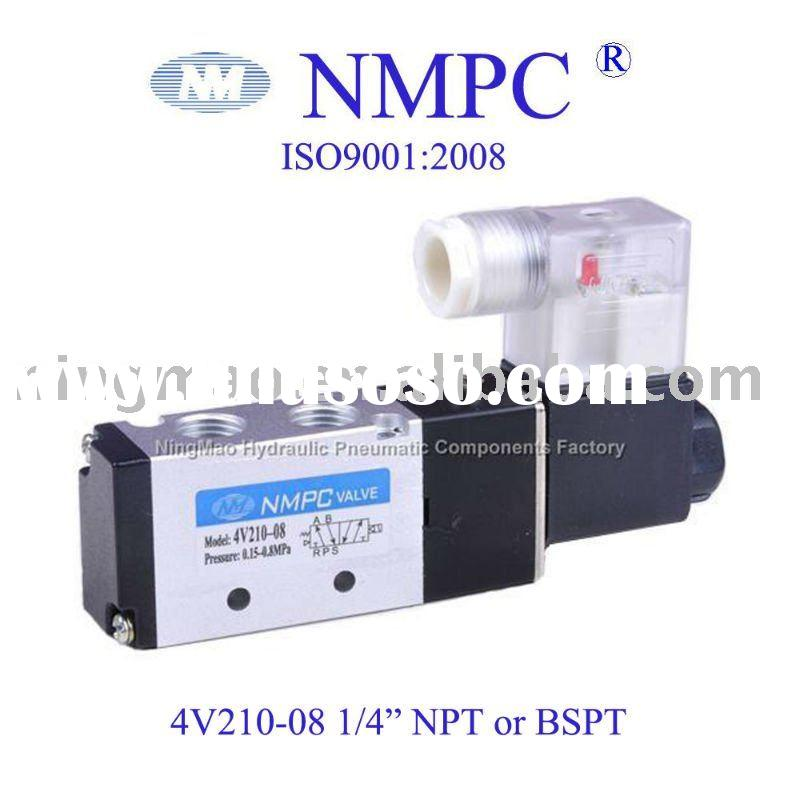 "4V210-08 electric Solenoid Valve/ air,gas/ 1/4""NPT or PT/ 12V,24V DC or 110V,220V AC"