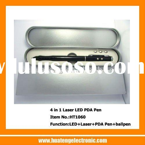 4 in 1 laser pointer with led lgiht pda stylus ball pen