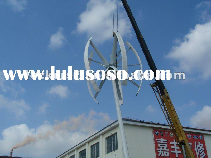 5KW vertical axis wind turbine/three phase and permanent magnet generator
