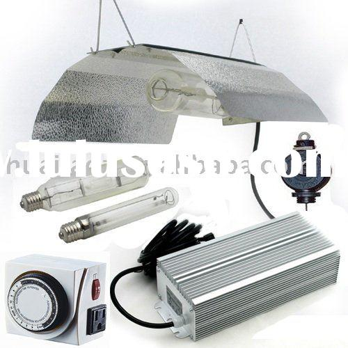 600W Grow Light System Wing reflector Hood Electronic Ballast Kit