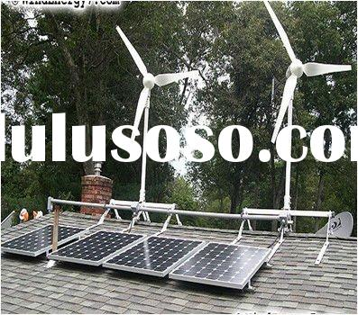 600W off grid hybrid solar wind power system