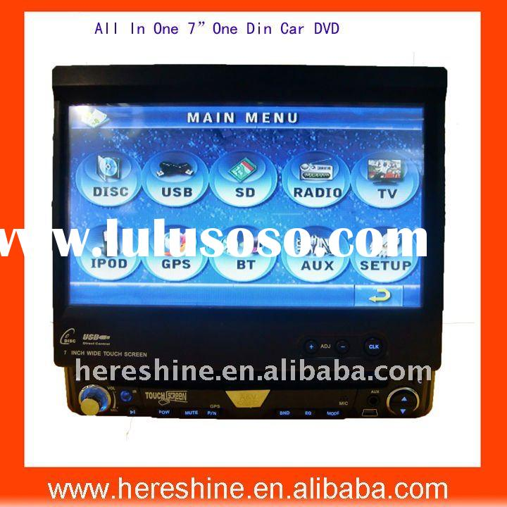 "7"" One Din Car DVD player with gps/touchscreen/detachable panel/Bluetooth FM"