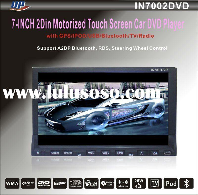 7 inch fixed digital panel car dvd player with GPS and TV