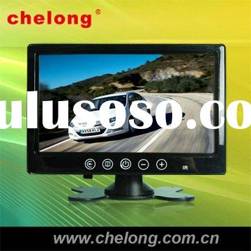 7'stand alone N/P TFT LCD monitor with touch button,dual video input,can remote control (CL-