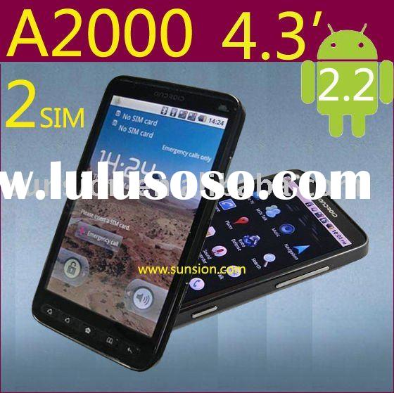 A2000 dual sim card andriod 2.2 smartphone, wifi mobile phone