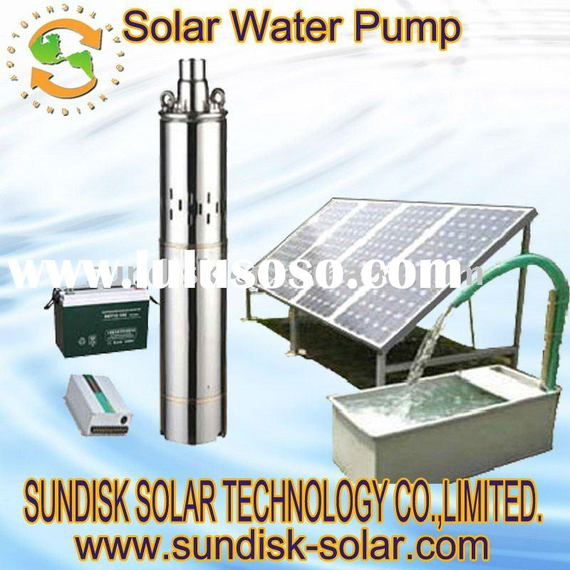 Agricultural irrigation solar water pump system
