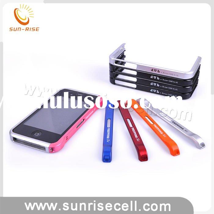 Aluminum bumper case for iphone 4 with carbon fiber screen protector