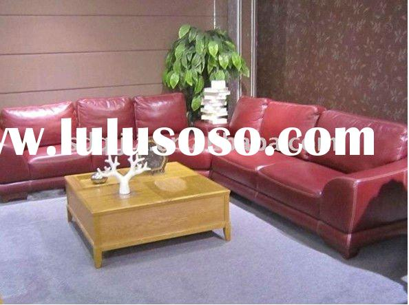 American Style Mmodern Genuine Leather Pink Sofa