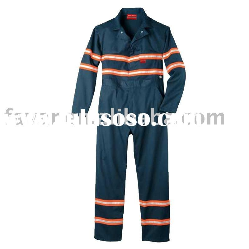 Anti-oil Fire Retardant Coverall / Reflective Safety Clothing / Anti Flame Safety Oil Person Workwea