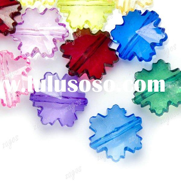 Assorted Color 15X15X6mm Maple Leaf Acrylic Beads for Jewelry Making AR0163