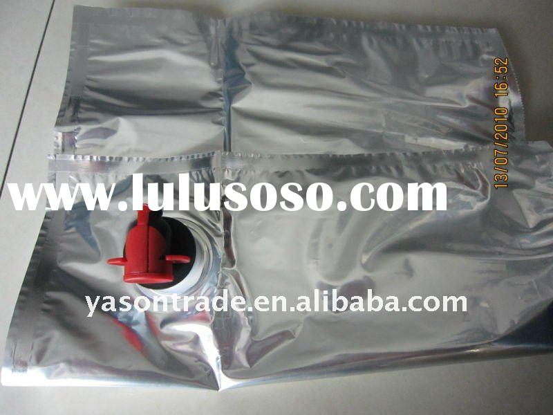 BIB bag in box with valve for wine packaging