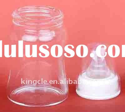 BPA free heat-resistant borosilicate glass feeding bottles