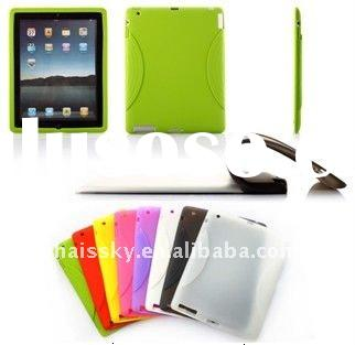 Best price of colourful silicone case with simply design for ipad 2