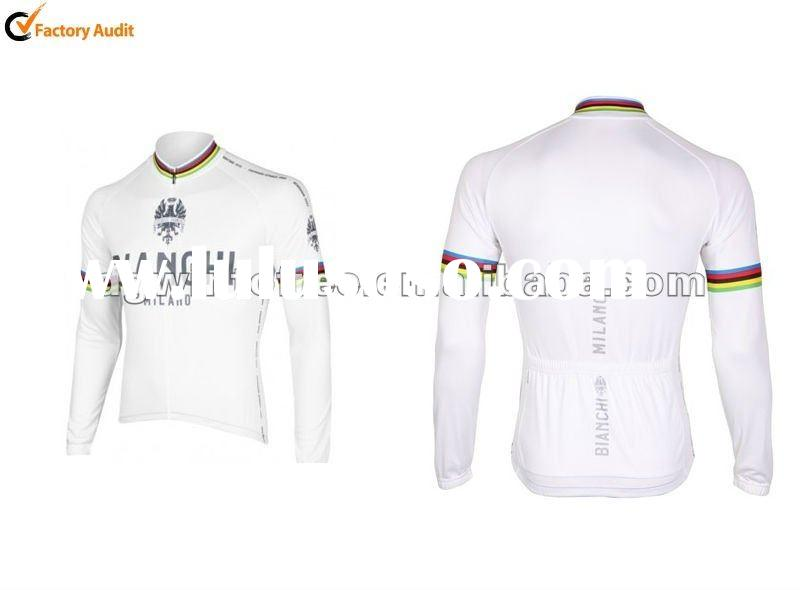 Bianchi White World Champion short Sleeve Cycling Jersey