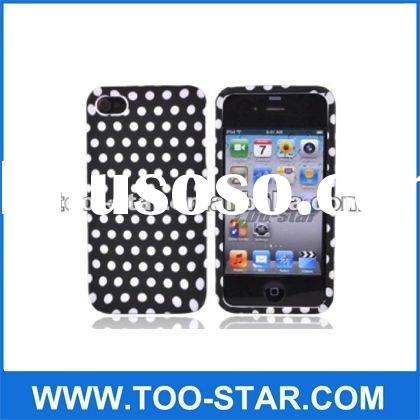 Black & White Polka Dots hard case cover for iPhone 4/4S Verizon AT&T