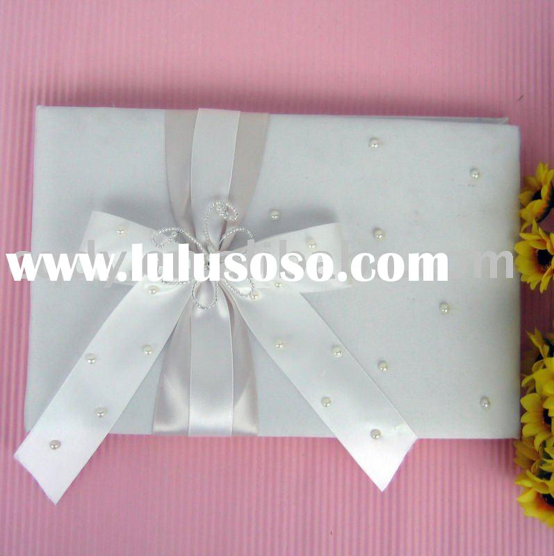 Bow-Tie Wedding supplies/white wedding guest book/2011 Classical wedding decoration/Soft Matte Satin