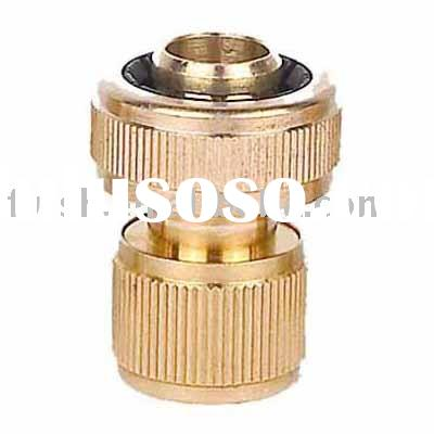 "Brass Hose Quick Connector 3/4"" size"