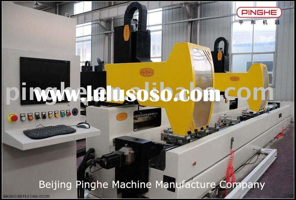 CNC Double Head Machining Center(4+4-Axis) for Window Machine Profile Processing