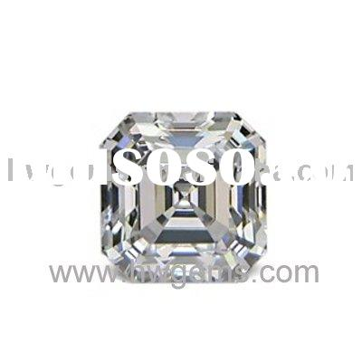 CZ Stone Cubic Zirconia Stone White Square Shape Imitation diamond