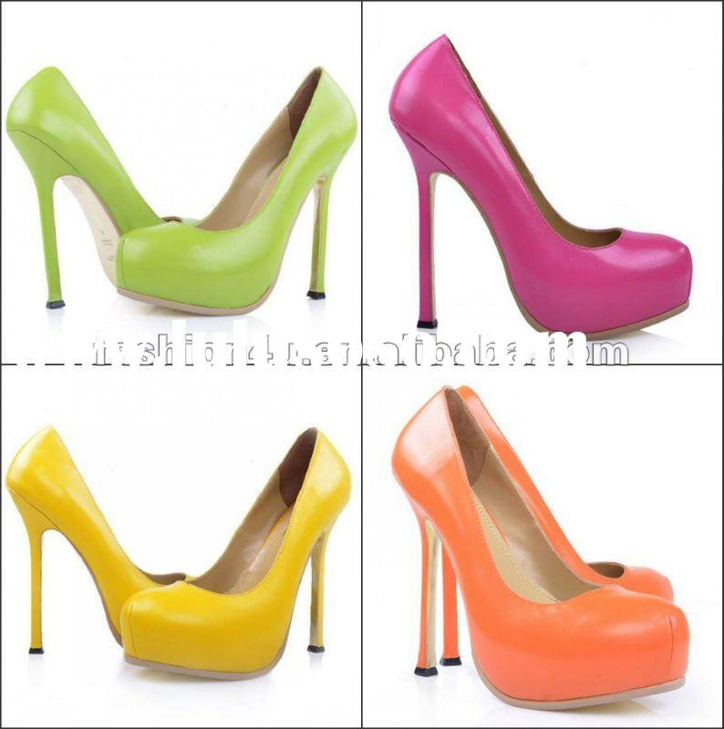 Candy color high heel 2012 brand fashion shoes