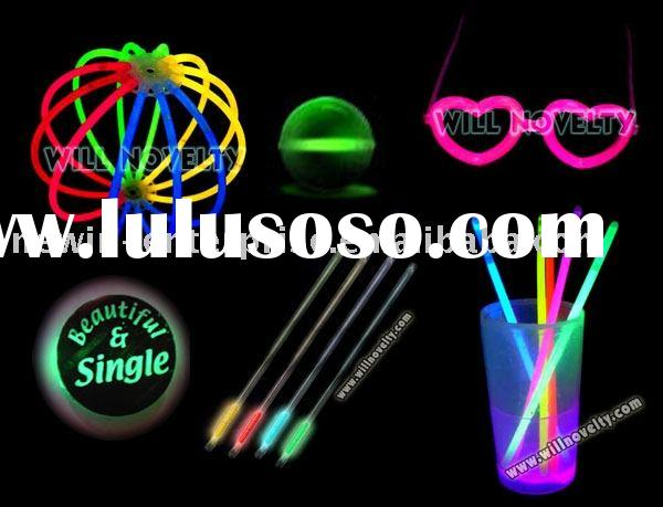 Chemical Glow novelties- glow drinkware - glow headgear