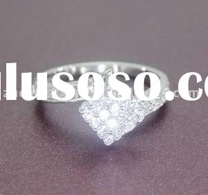 China Wholesale Silver Jewelry, 925 Silver Finger CZ Ring
