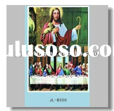Chiristian 3d painting/high definition 3d picture of Christ/3d painting supplier