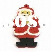 Christmas Promotional USB Flash Drive with 32MB to 16GB Capacity