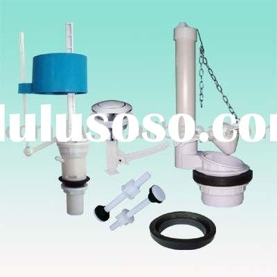 Cistern Mechanism/Toilet Tank Fittings-Embeded Fill Valve+Flapper Flush Valve