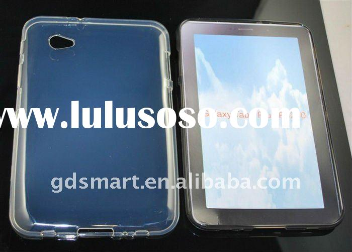 Clear TPU Rubberized Cover Case For Samsung P6200 Galaxy Tab 7.0 Plus