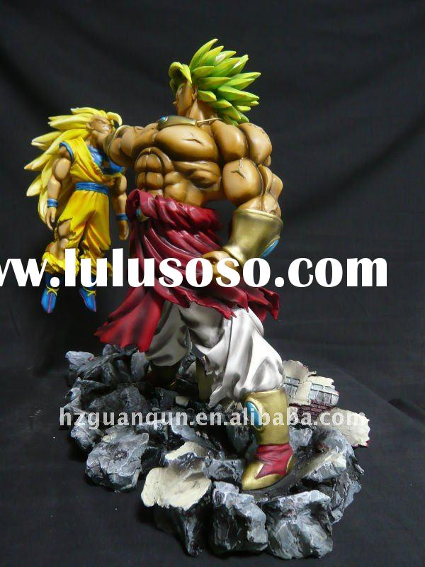"Collectible Dragonball z 13.4"" Broly VS Goku resin statue-dragon ball figure toys"
