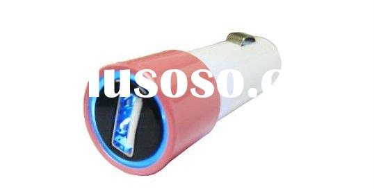 Colorful Mini USB Car Charger For iPhone4,for iPad,for iPod
