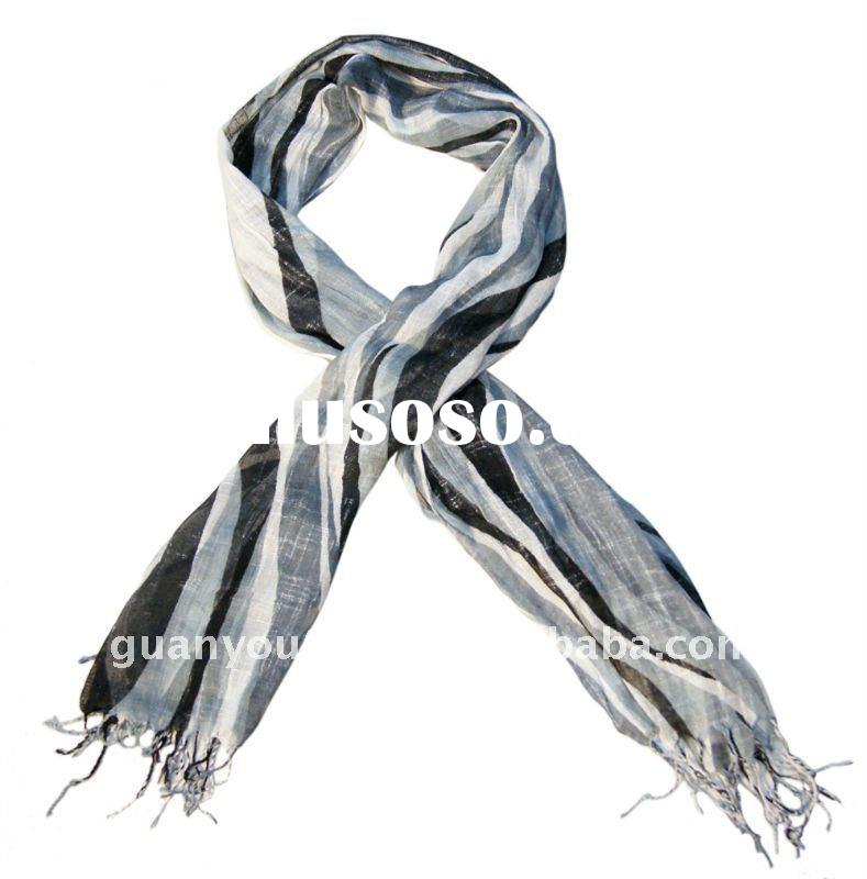 Colorful Soft Cotton Slup Long Wrap Scarf Fashion Accessories