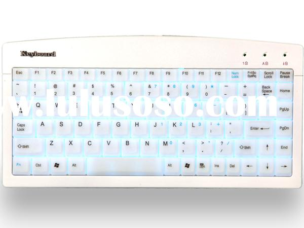 Computer keyboard with shining design/keyboard