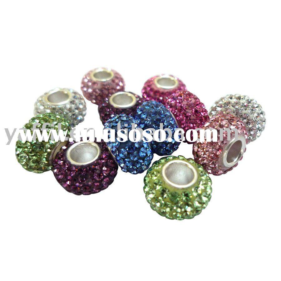 Crystals Beads With 925 Sterling Silver Cored