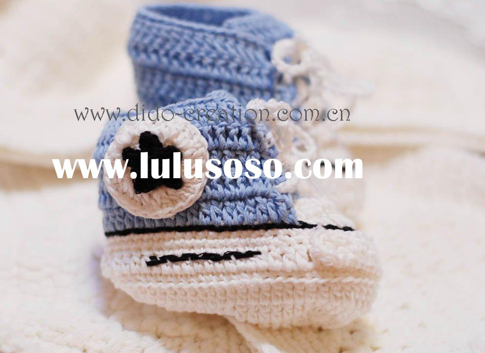 DD07027A Handmade Crochet Baby sport Shoes famous footwear for babies children kids
