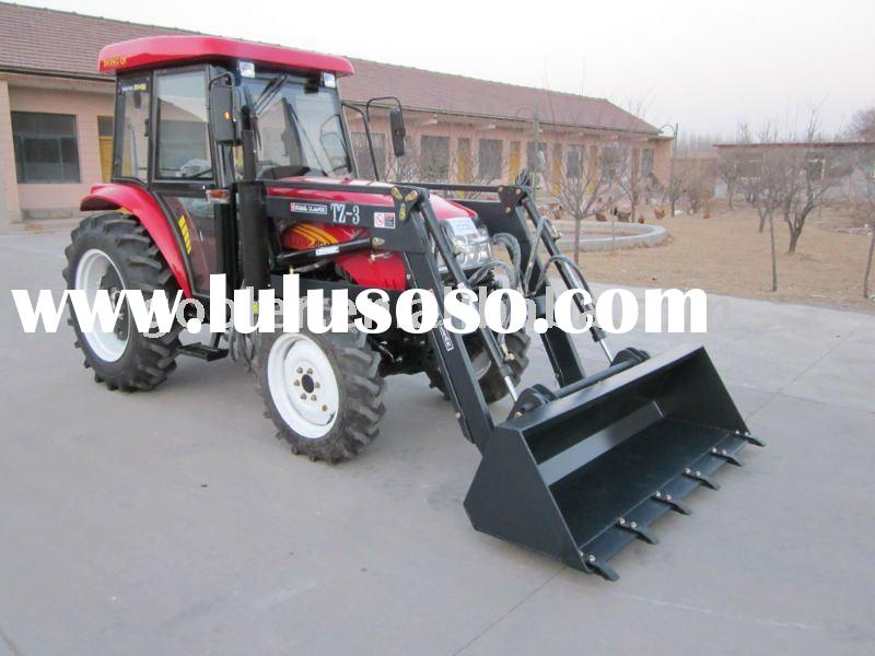 DQ404 garden tractor with cabin, TZ04D front end loader
