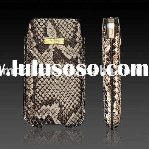 DSC-019-2 Fitcase real python skin ,real leather case for iPhone 4, for iphone 4, real leather case,