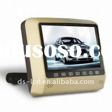 "DS-X9D 9"" Touch Key Headrest DVD Player with Digital Panel, Bracket, Built-in Games and USB/SD"