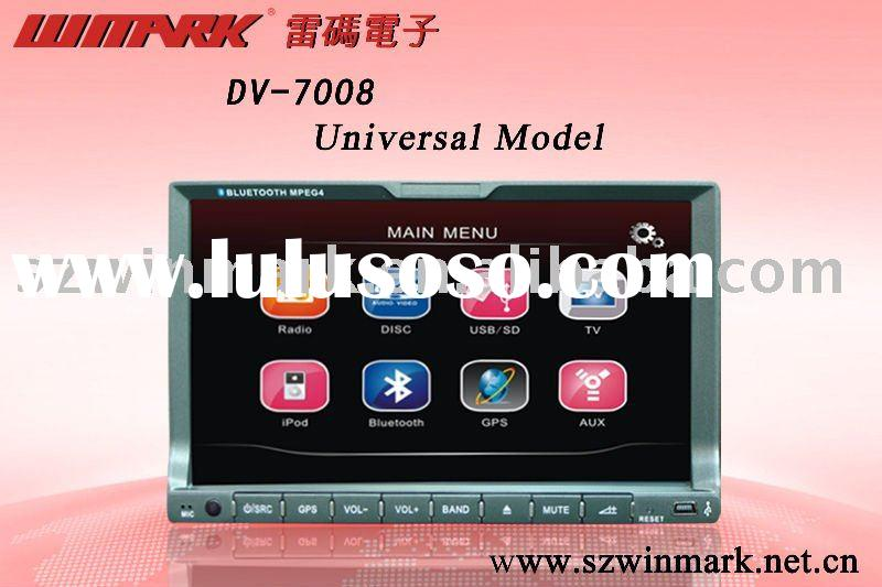 "DV7008 universal model 7""Double Din digital Panel Car TV,audio,vedio,MP4,car MP3 with bluetooth"