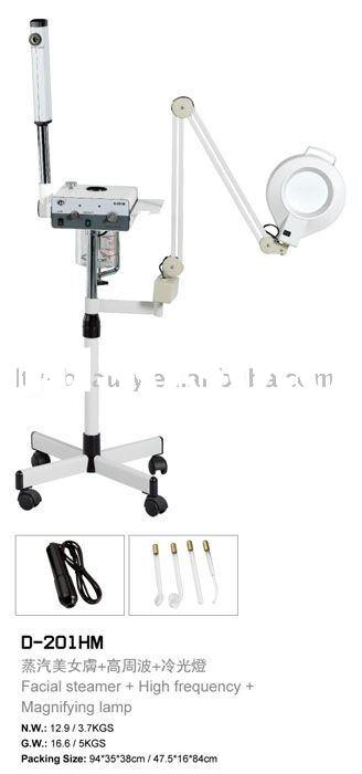 D-201BM Facial steamer+Magnifying Lamp+high frequency,Vaporizer,beauty equipment,beauty machine
