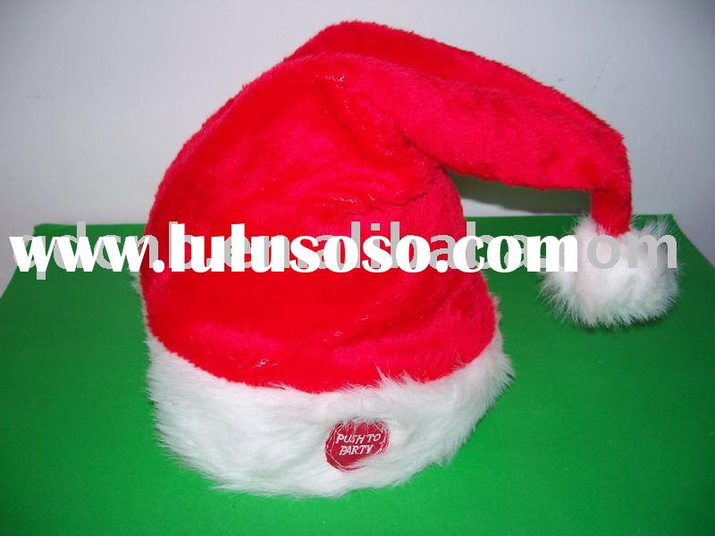 Dancing Chirstmas Hat Wearing on Head with Music