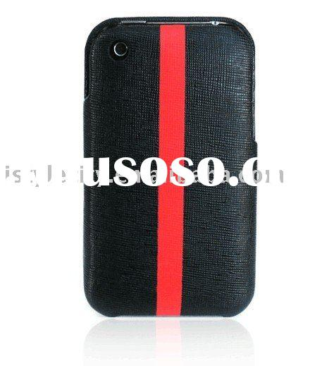 Designer Leather Protective case for iPhone 3G/3GS (Black)