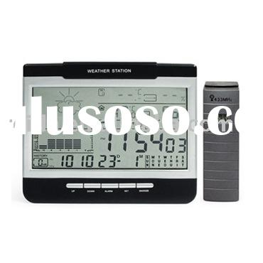 Digital Weather Station Clock (CE,ROHS certified) ;digital clock;LCD clock