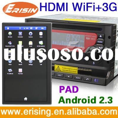 ERISIN Android wifi 3g tv radio 7 inch double din car dvd with gps