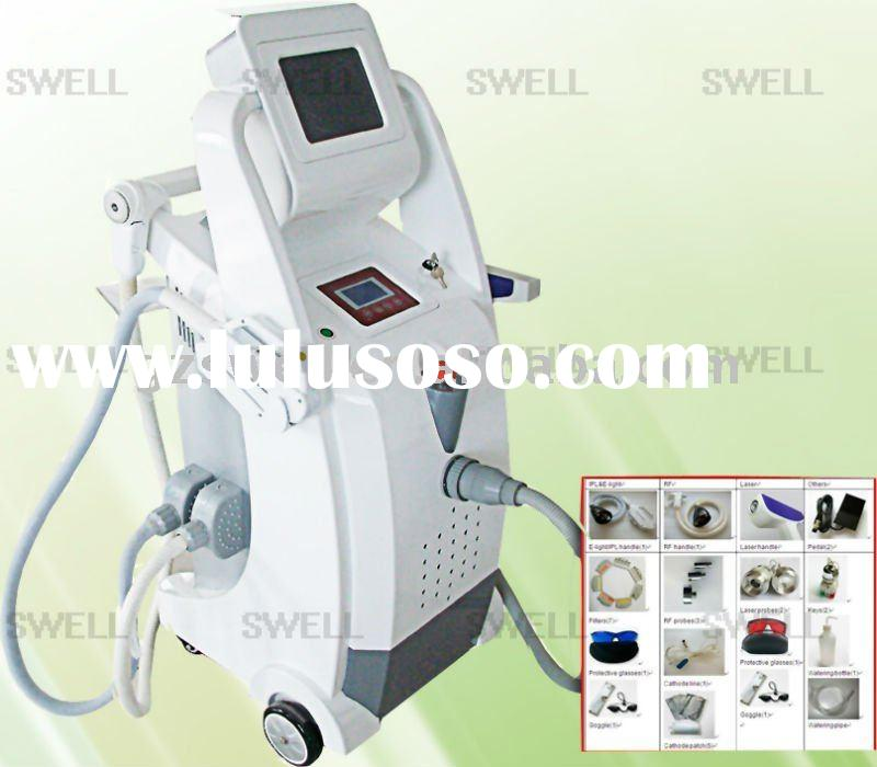 E-light + RF + laser ipl hair removal machine